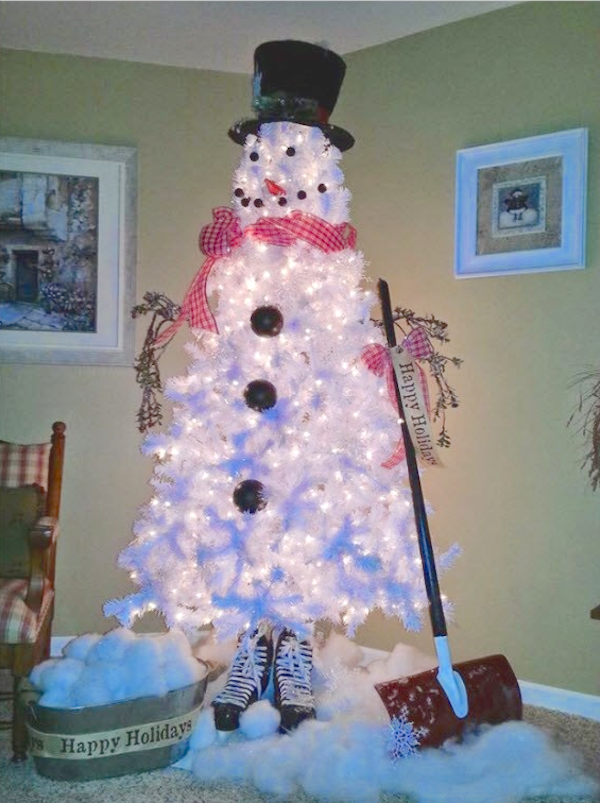 15 Snowman Christmas Tree Diy Decorations And Ideas