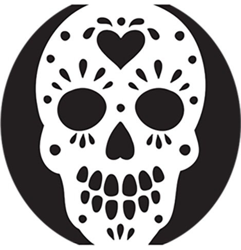 graphic relating to Printable Skull Stencils called 23 No cost Skull Stencil Printable Templates Lead Routines