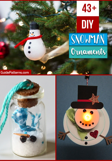 43 Diy Snowman Ornaments Guide Patterns