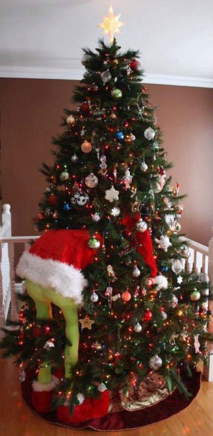 How To Make A Grinch Christmas Tree 12 Diy Decoration