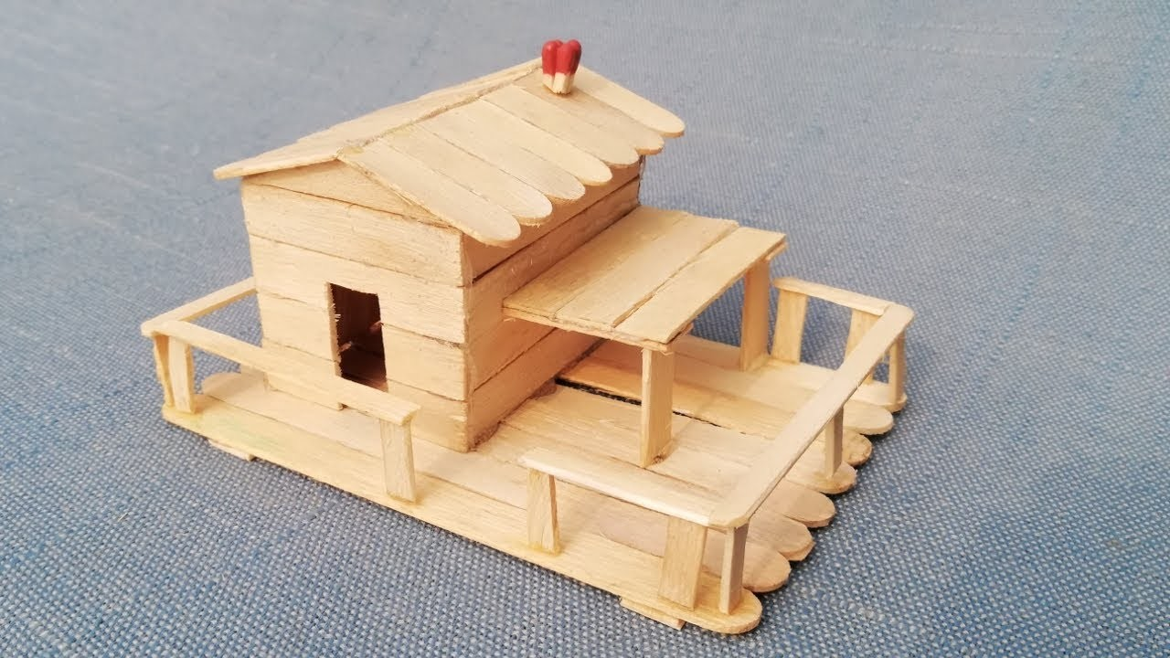 25 Diy Patterns And Designs To Make A Popsicle Stick House