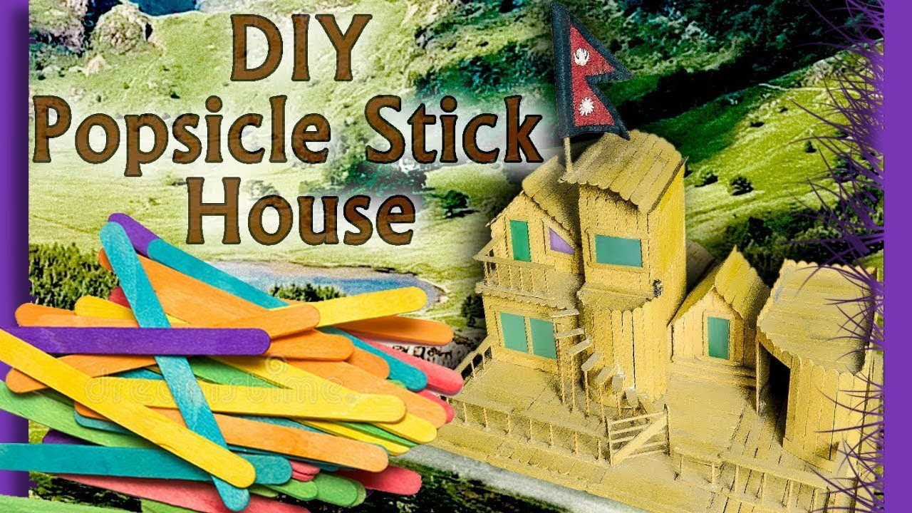 25+ DIY Patterns and Designs to Make a Popsicle Stick House