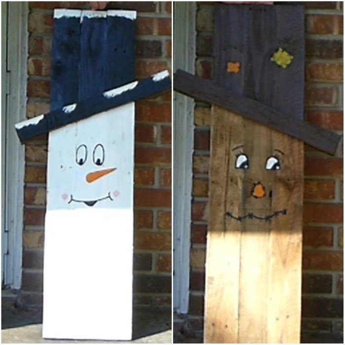 20 Diy Ideas To Make A Snowman With Pallet And Other