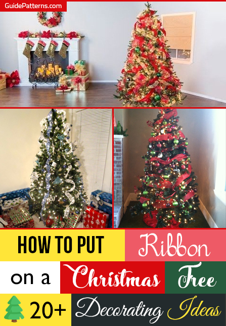 How To Put Ribbon On A Christmas Tree 20 Decorating Ideas