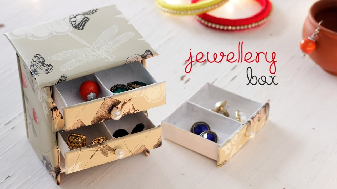 13 Designs To Make A Jewelry Box With Cardboard For Your Necklace Earrings And Rings Guide Patterns