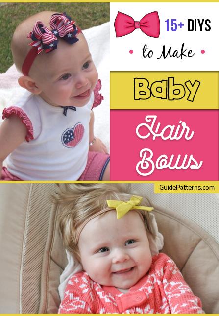15 Diys To Make Baby Hair Bows Guide Patterns