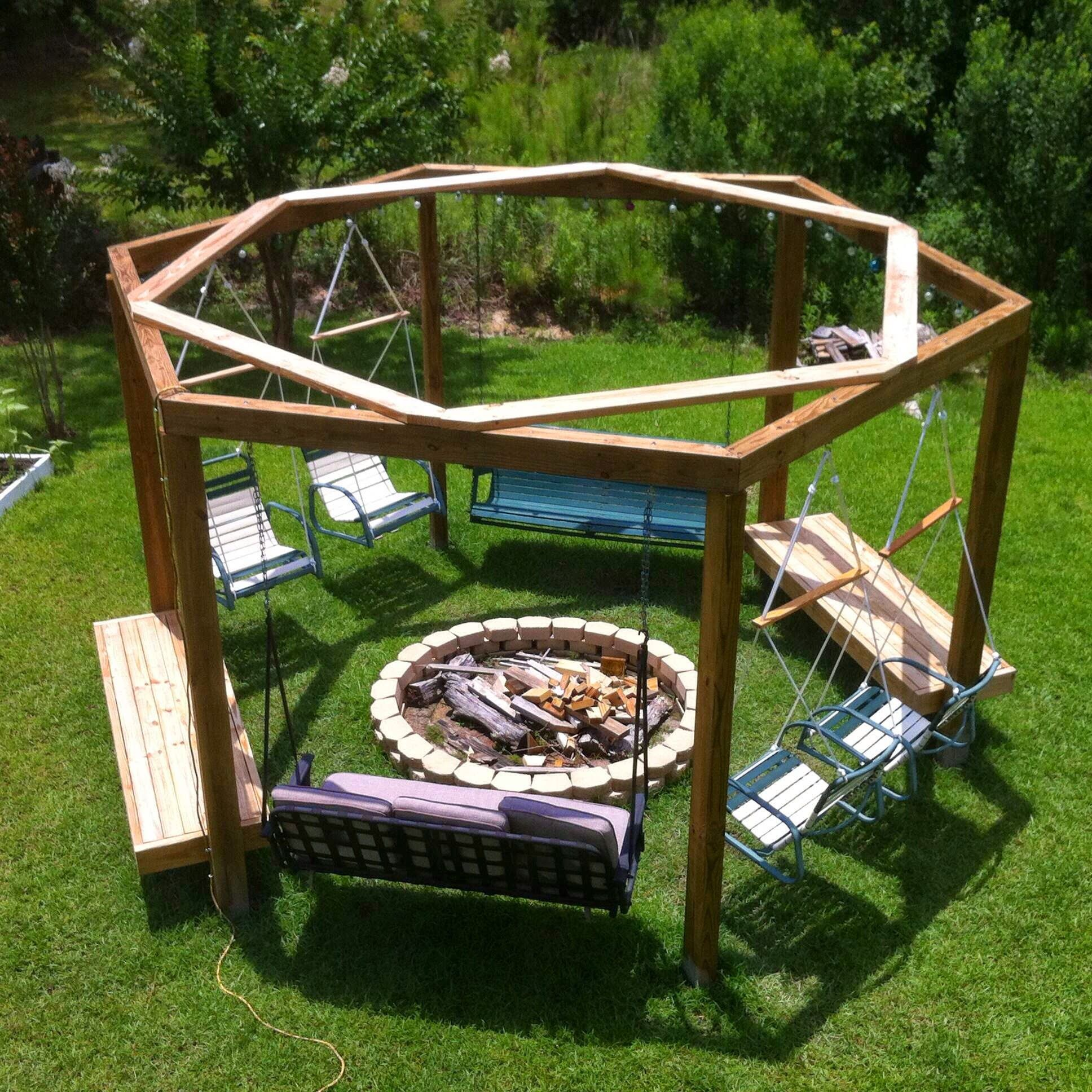 12 Fire Pit Swing Plans | Guide Patterns