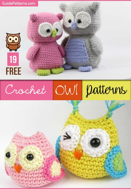 Crochet Heart Stitch Owl Amigurumi Free Patterns | 645x447