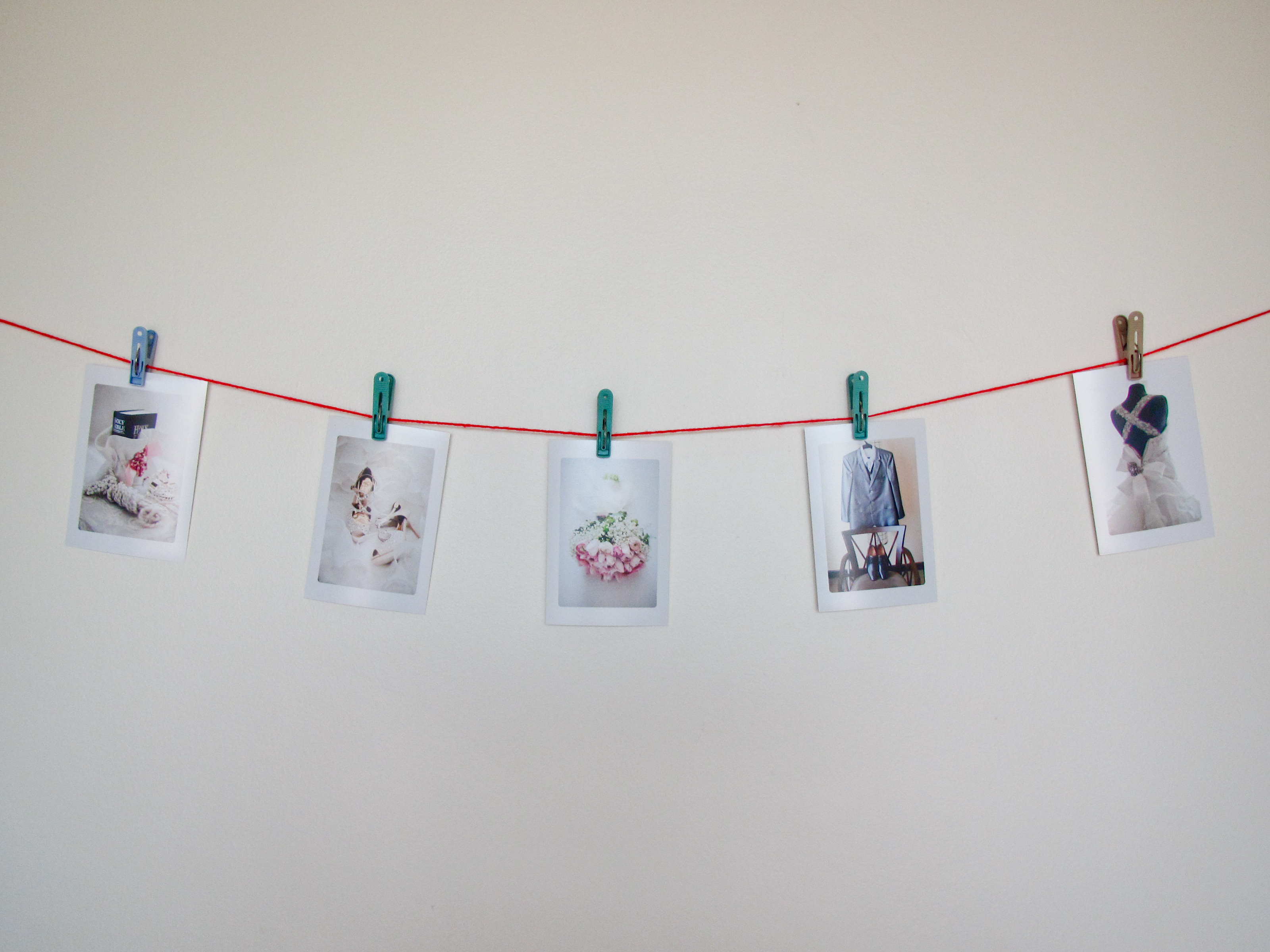 Clothespin Picture Hanging Easy Craft