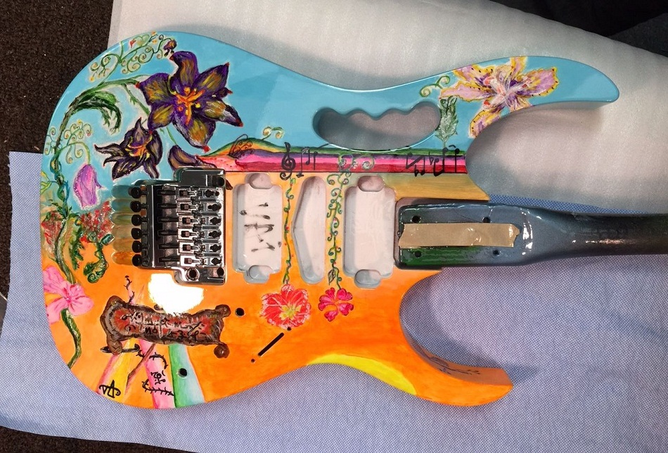 6 Cool Guitar Painting Tutorials And Ideas Guide Patterns